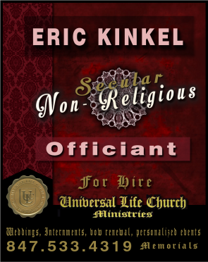 Eric Kinkel: Secular Wedding & Special Ceremonies Officiant in Northwest suburbs Illinois, mike maciorowski