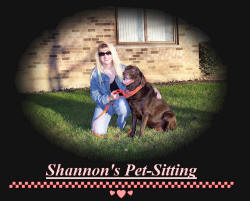 Shannon's pet sitting service