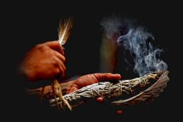 Smudge Feather, Sage Cleansing