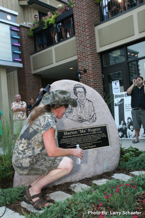 Ted Nugent gazes at monument unveiled to his mother Marion Dorothy Nugent